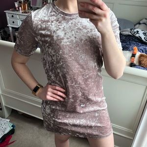 Crushed Velvet Dress